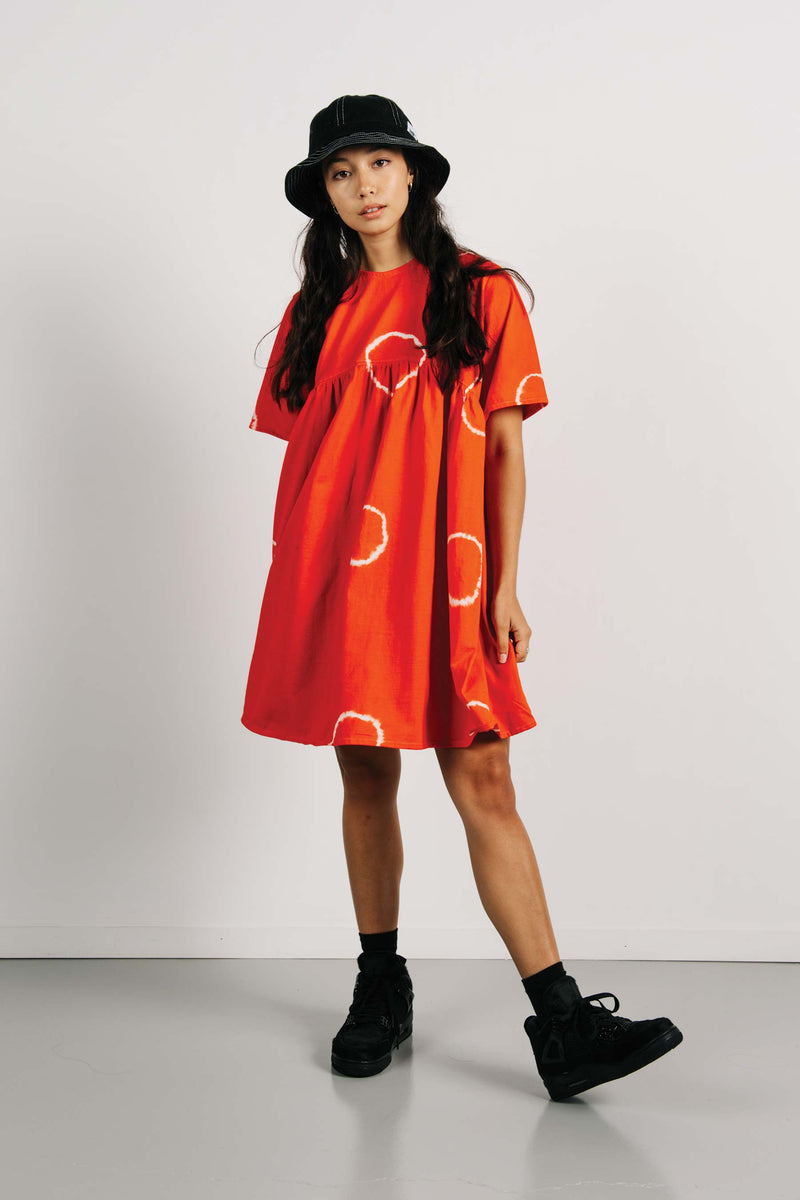 Buffalo Dress - Orange Tye Dye