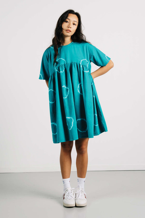 Buffalo Dress - Teal Tye Dye