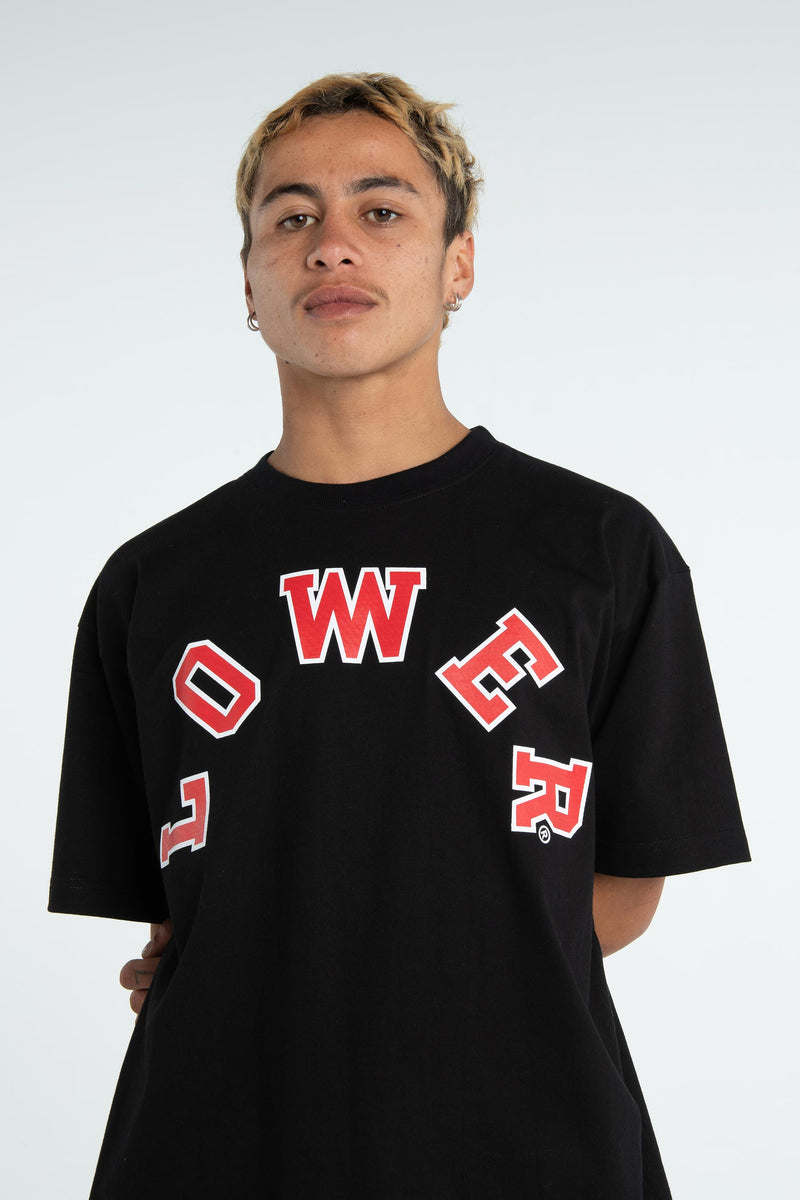 Mens Block Tee - Half Court - Black