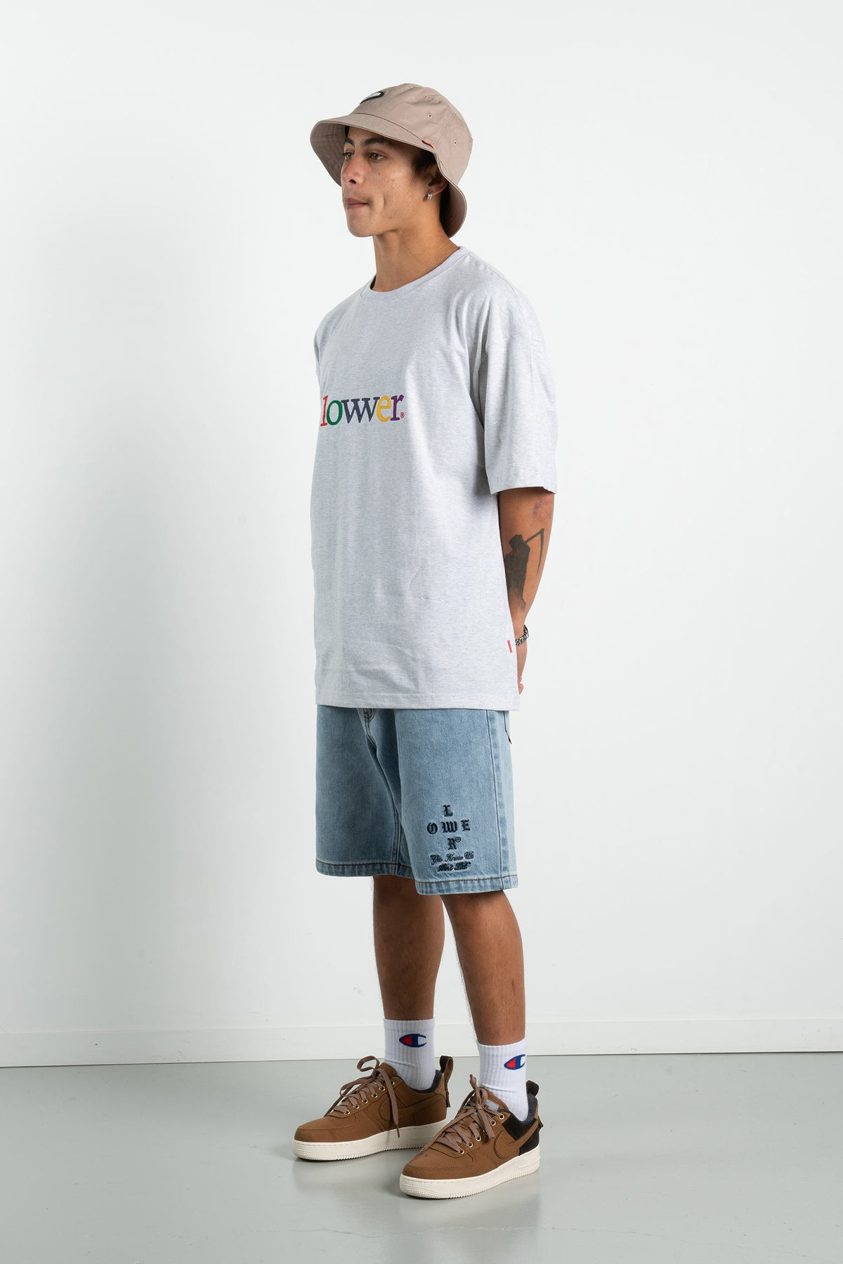 Mens Box Tee - Applebox - Silver