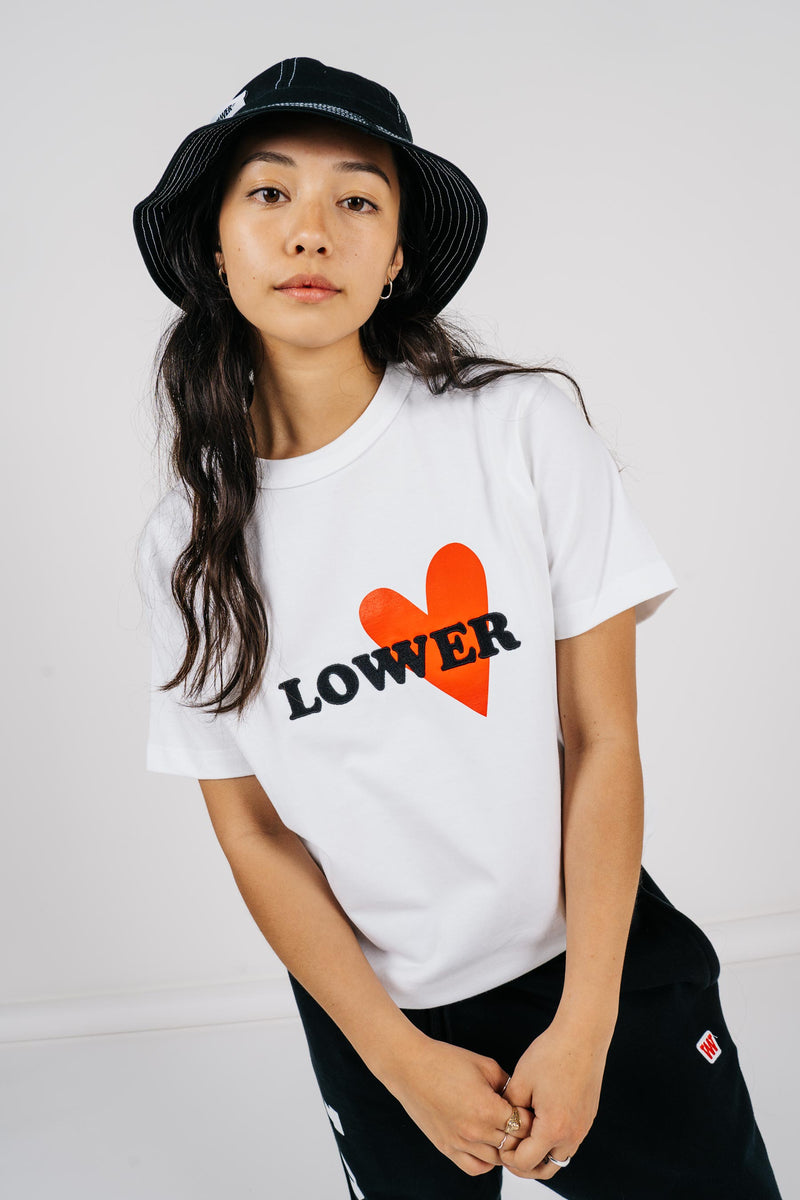 Womens Channel Tee - Lo Love - White