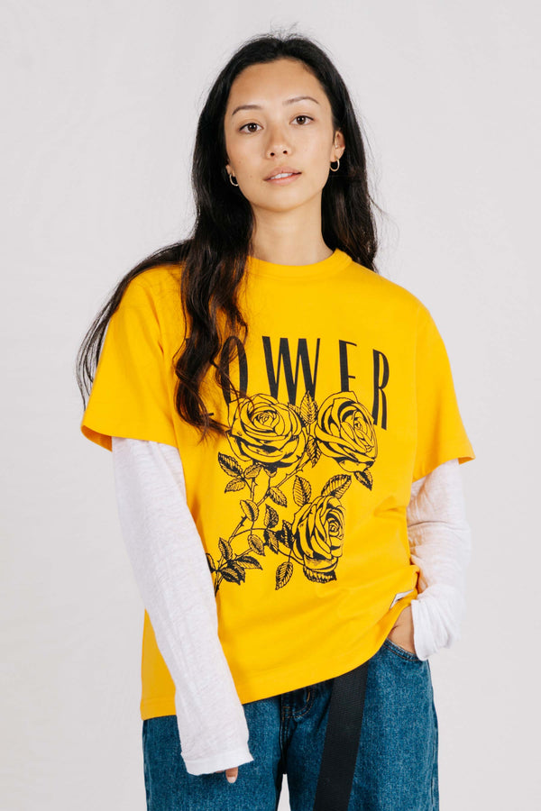 Channel Tee - Roses - Gold