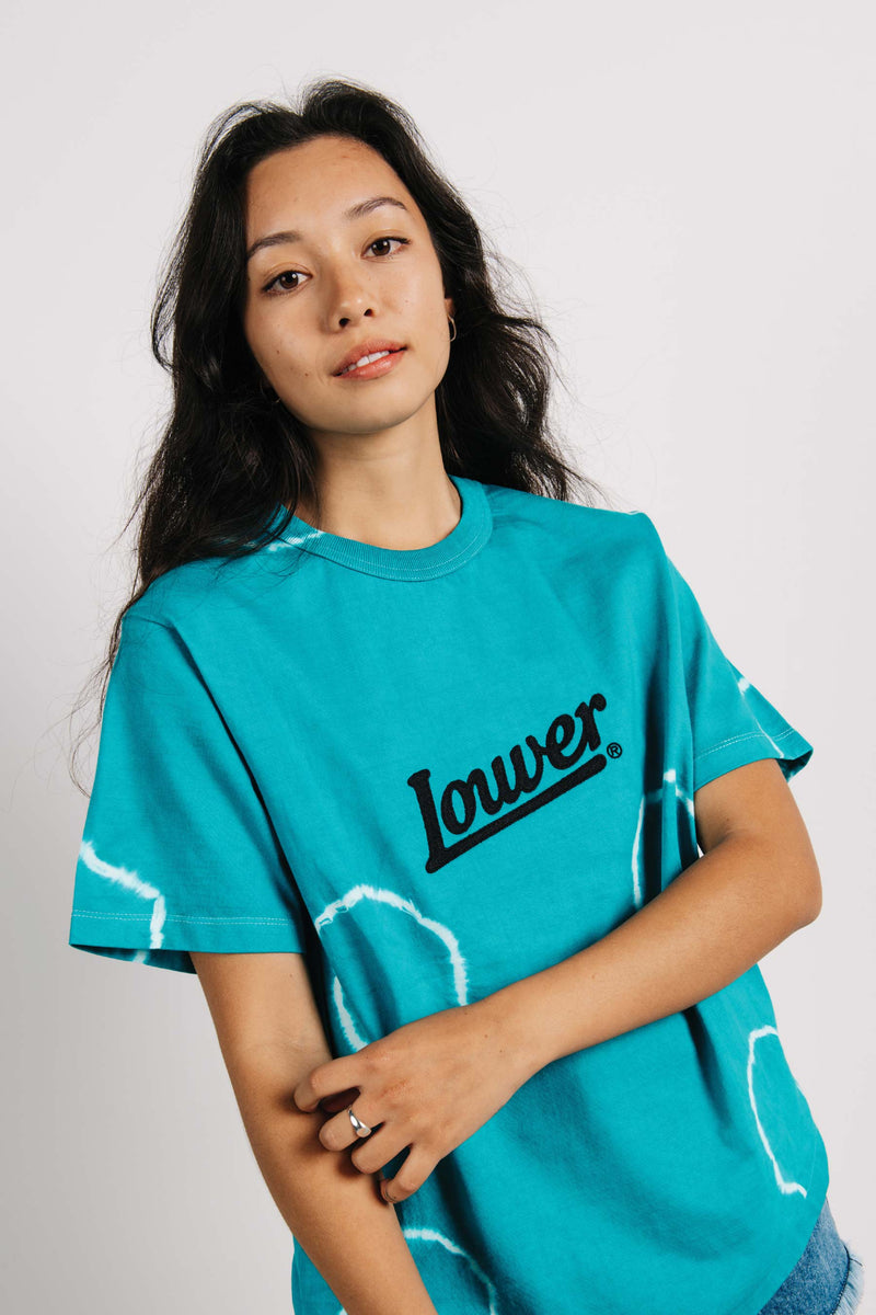 Channel Tee - HD Script - Teal Tye Dye