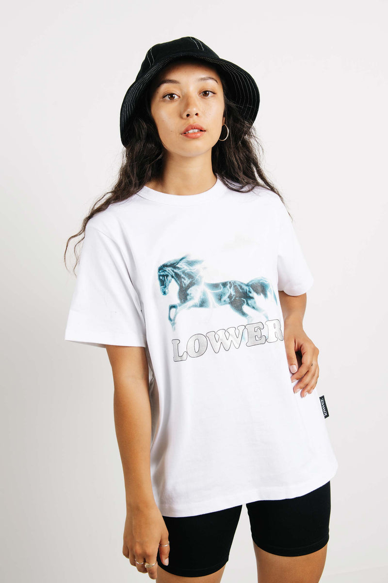 Channel Tee - Horse - White