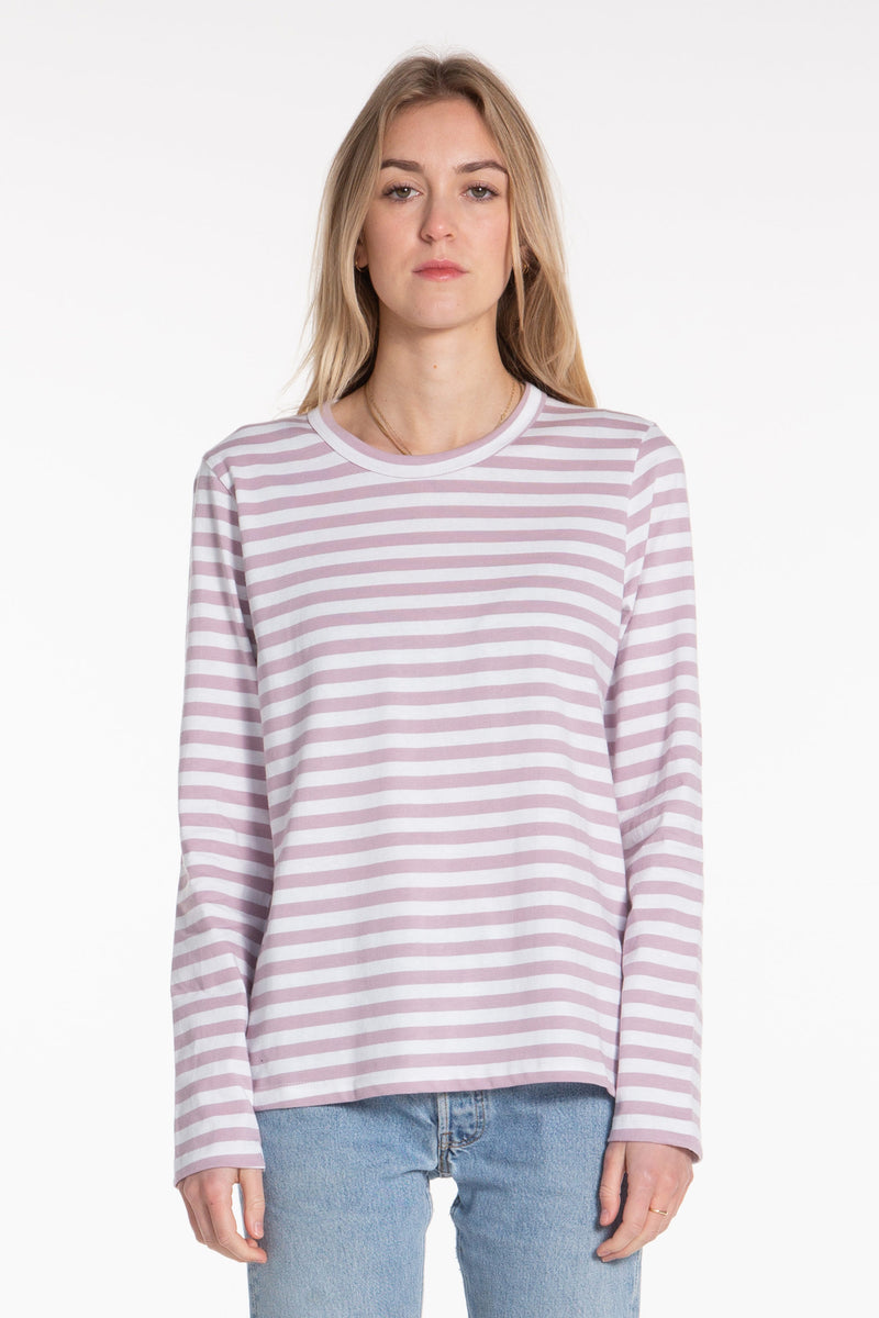 Classic LS Tee - Elderberry Stripe