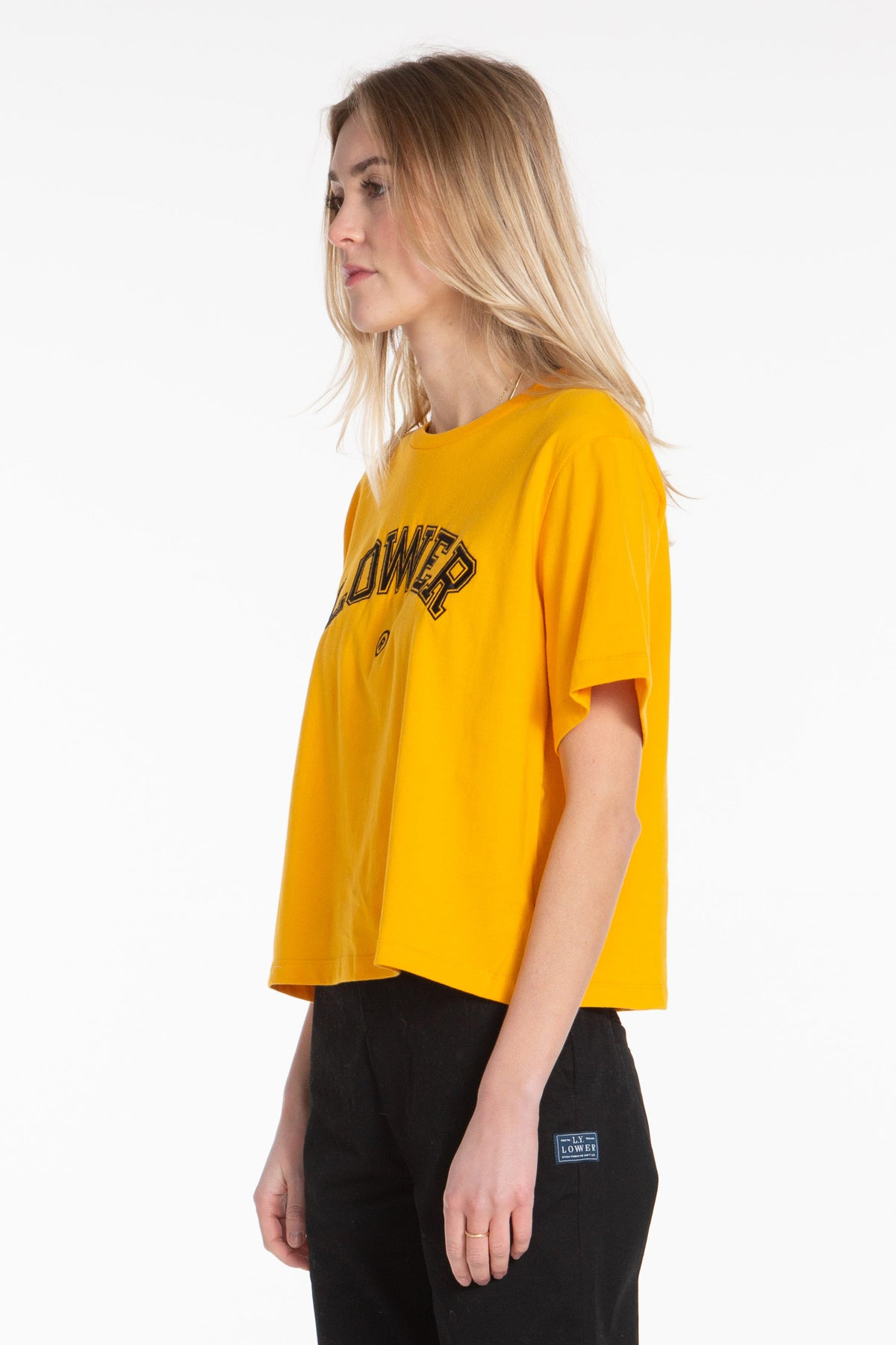 Playground Cropped Tee - Gold