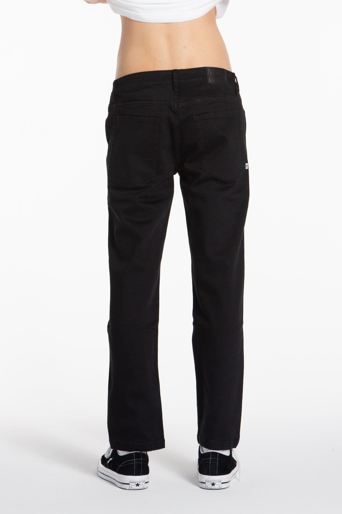 Cropped Slim Jean - Black