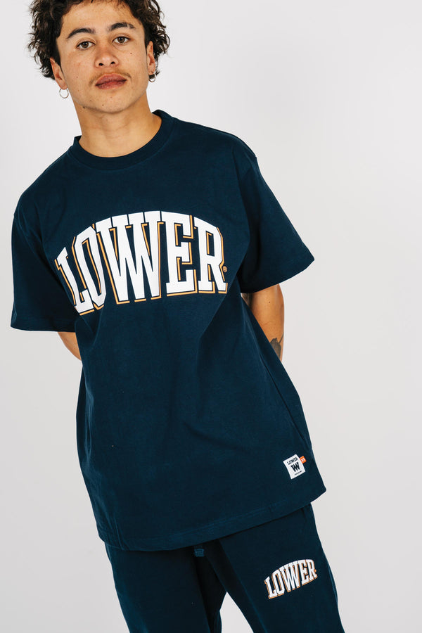 Mens Block Tee - Curvelow - Navy