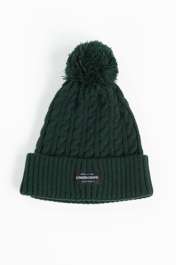 Cable Knit Beanie - Green