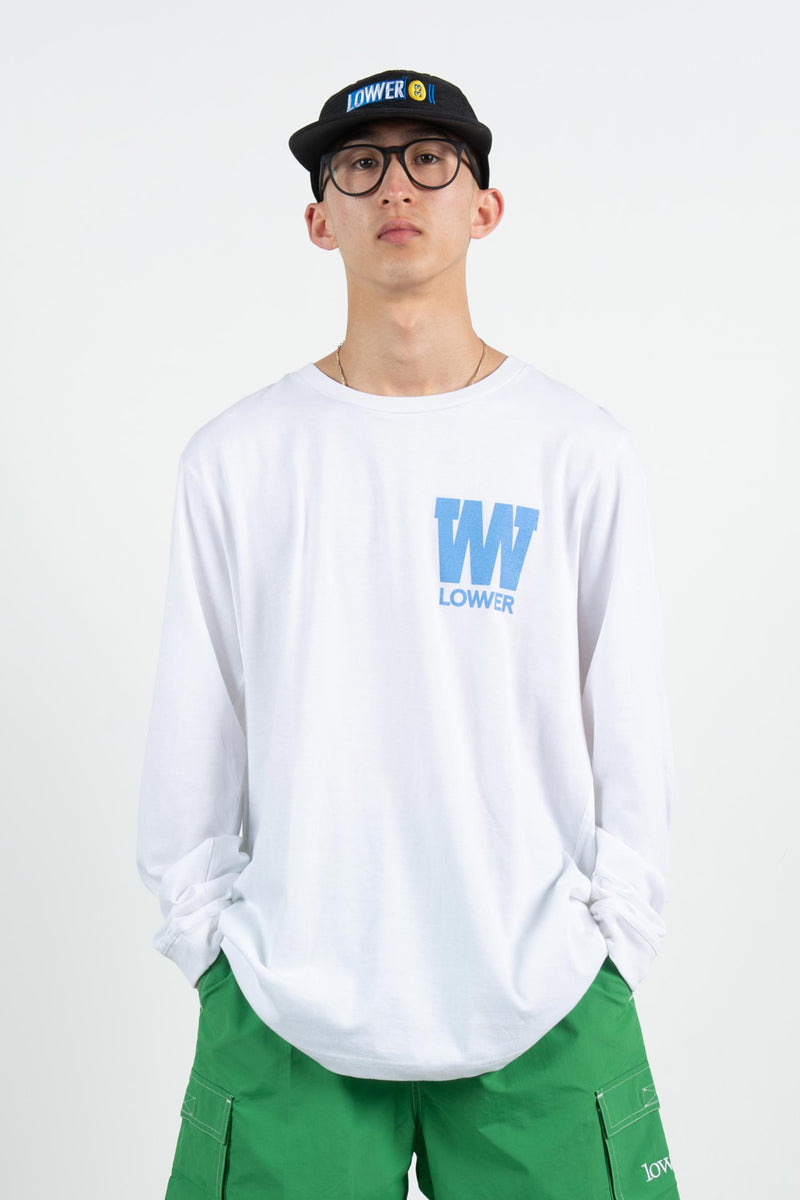 Men's QRS L/S Tee - Caps 2.0 - White