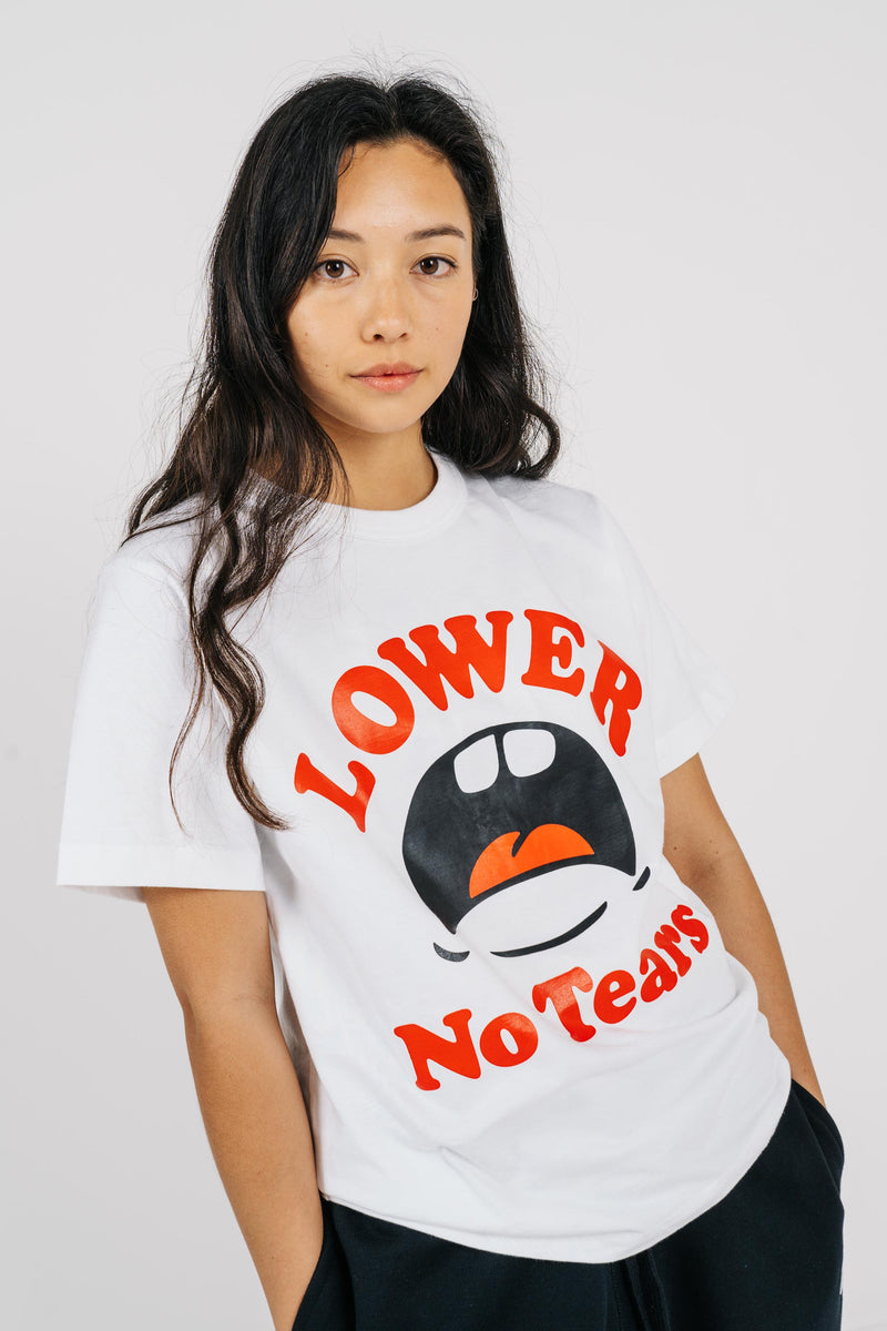 Womens Channel Tee - No Tears - White