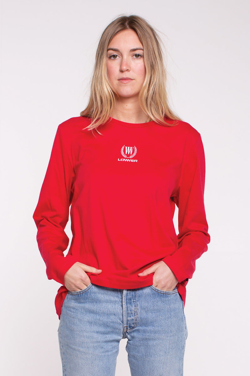 Crest Relax L/S Tee - Red