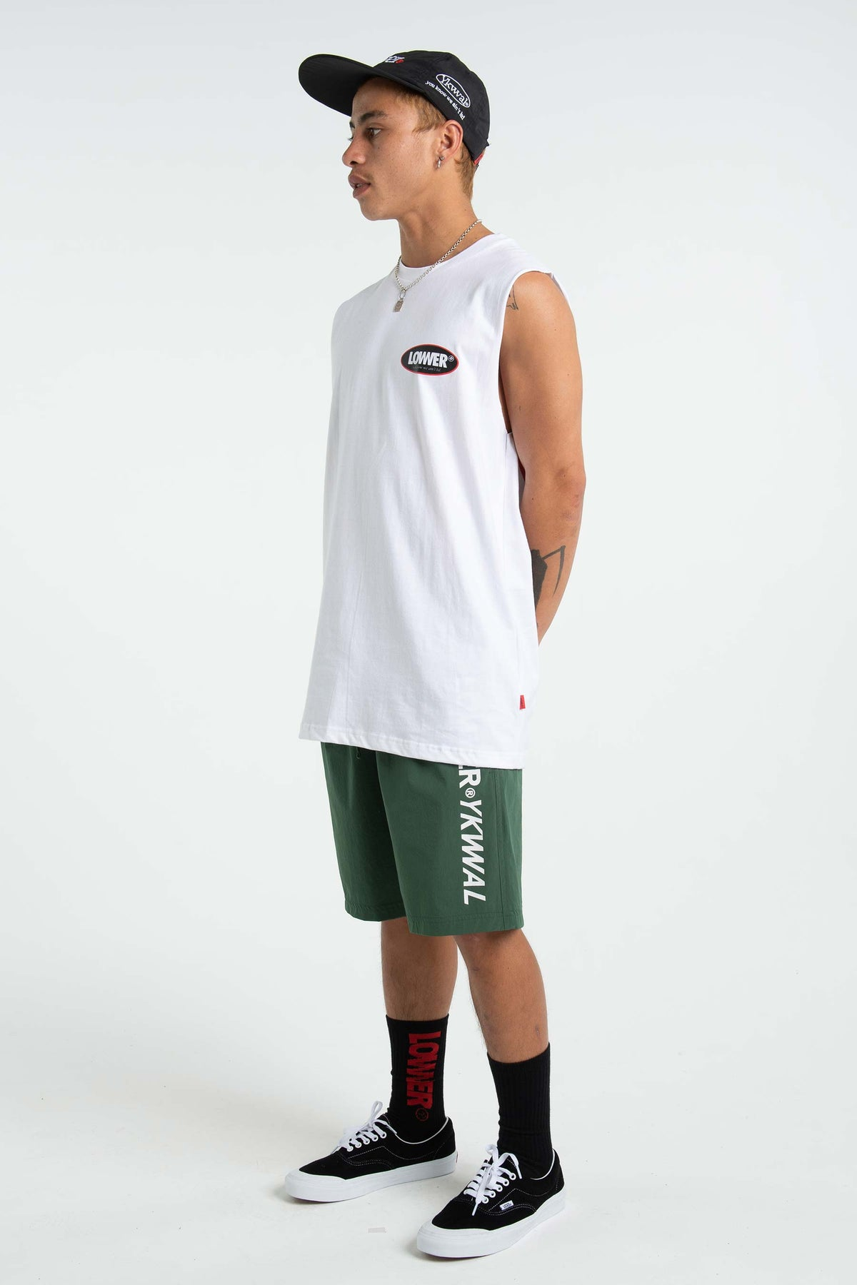 Mens Cut Tank - Duke - White