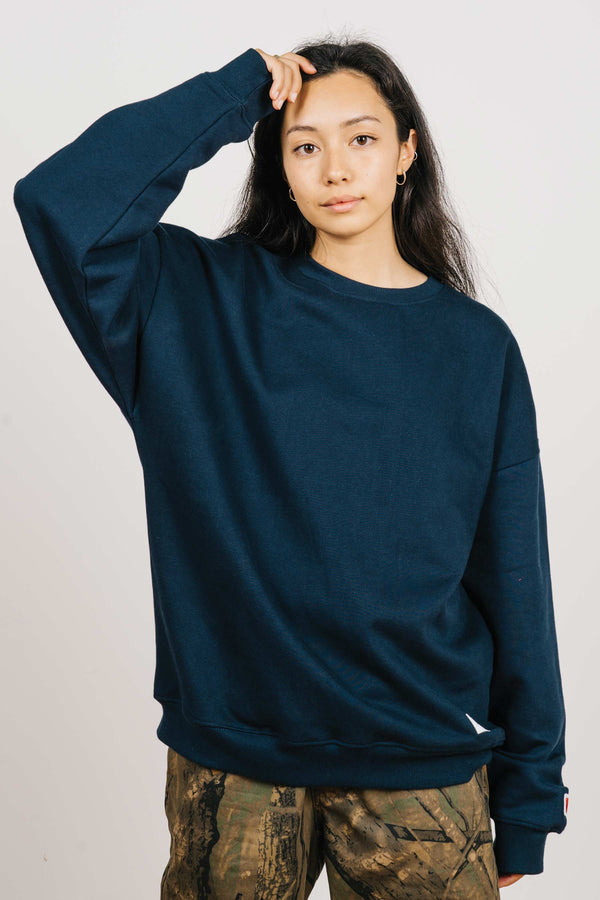 BD Crew (Unisex Heavyweight Organic Cotton) - Navy