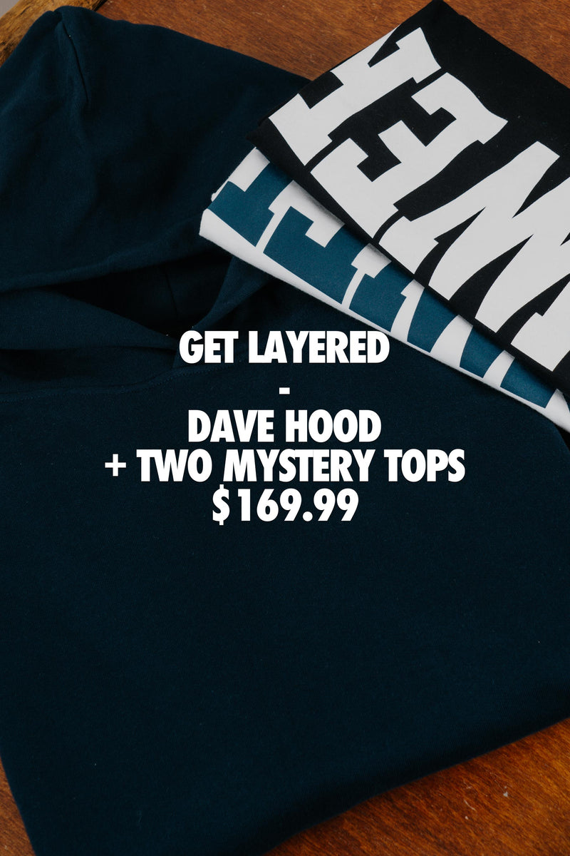 *NEW* Dave Hood (Navy) + 2 Mystery Tops