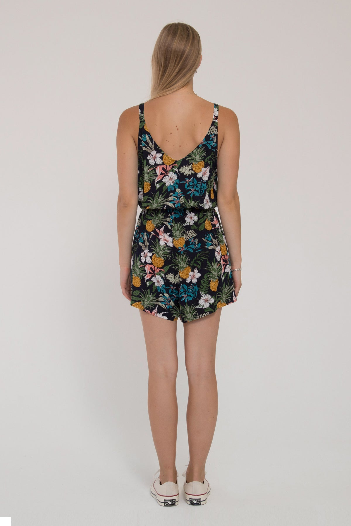 Della Playsuit - Tropical Black