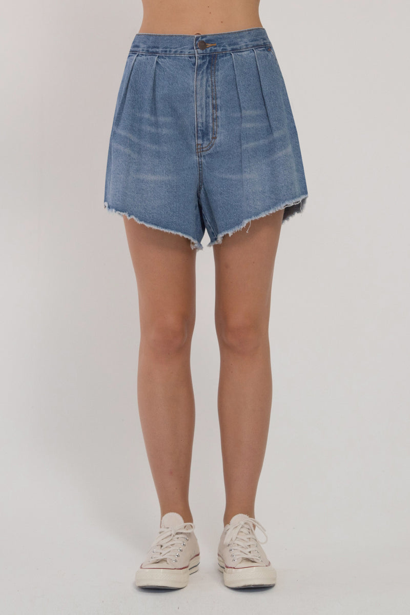 Denim Layla Shorts - Washed Blue