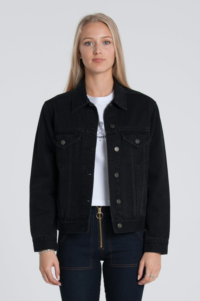 Daisy Denim Jacket - Black