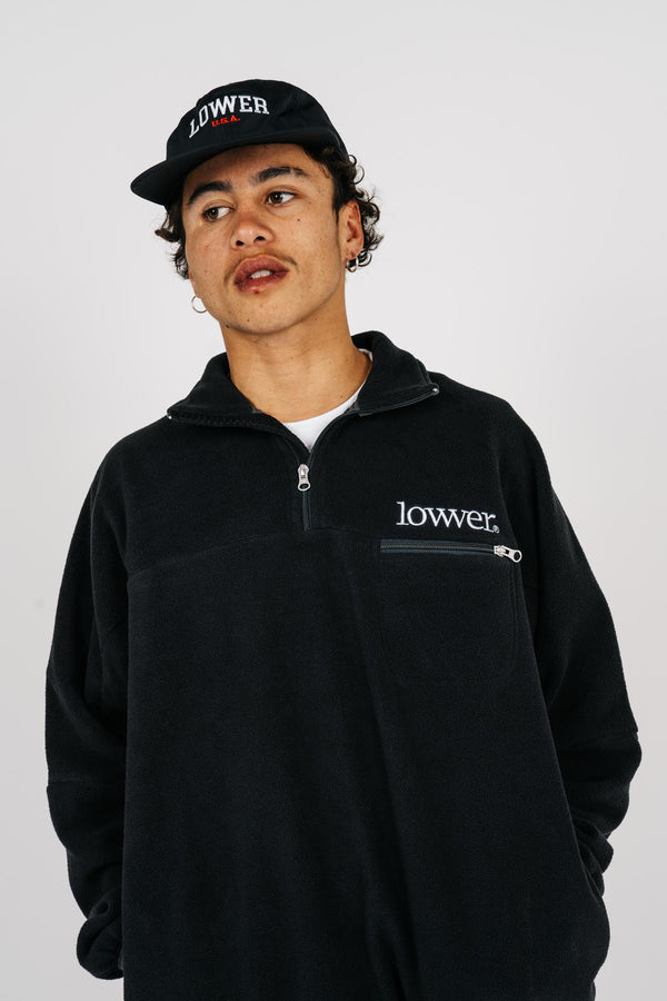 Mens Dexter Polarfleece - Applebox - Black/Grey