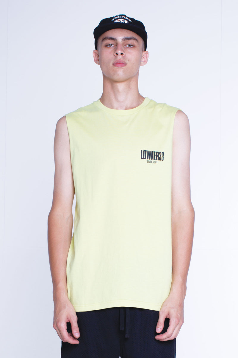 Mens Cut Tank - Dippin - Frozen Yellow