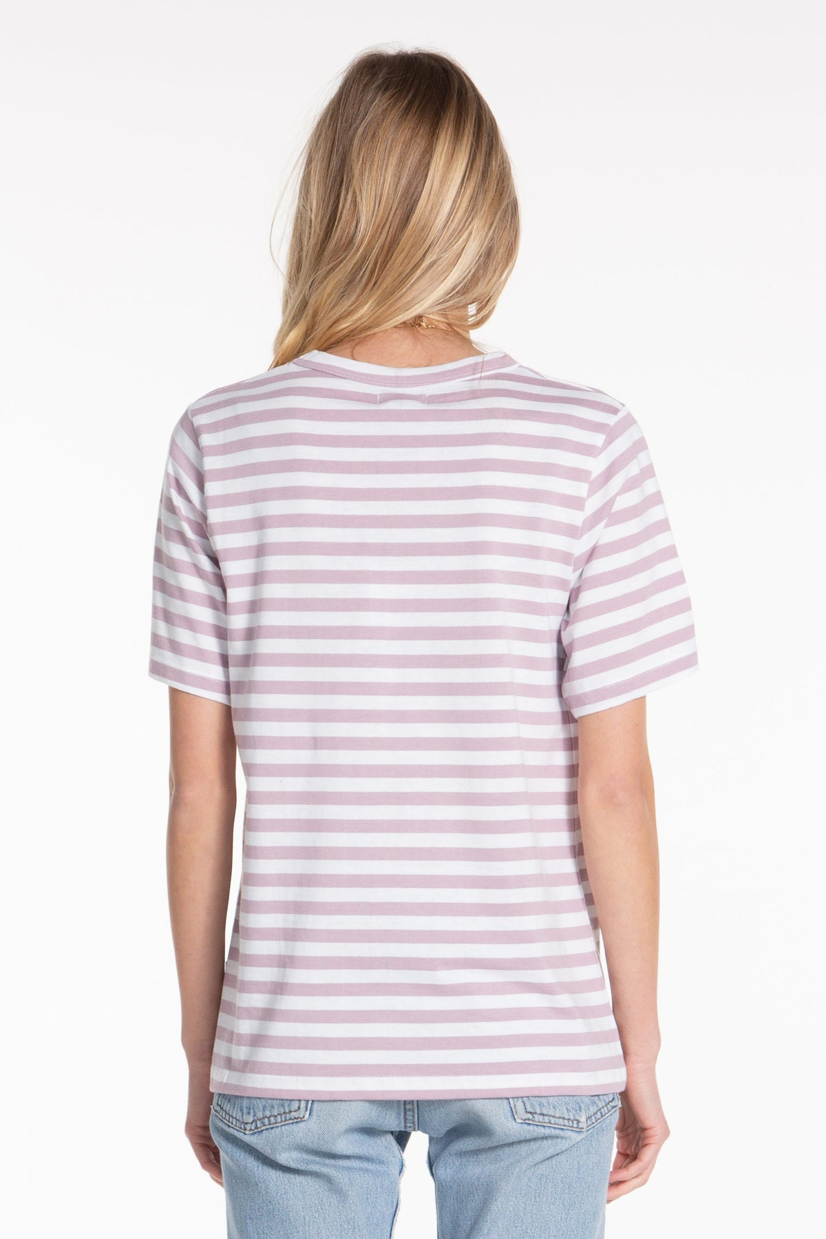 Classic Tee - Elderberry Stripe