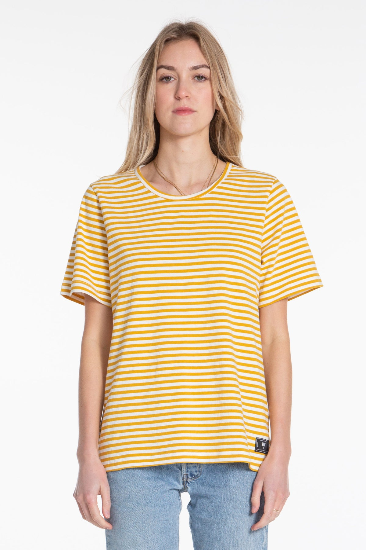Classic Tee - Cream/Gold Stripe