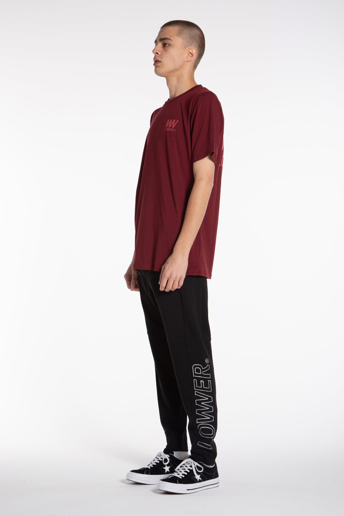 Double Charger Field Tee - Maroon
