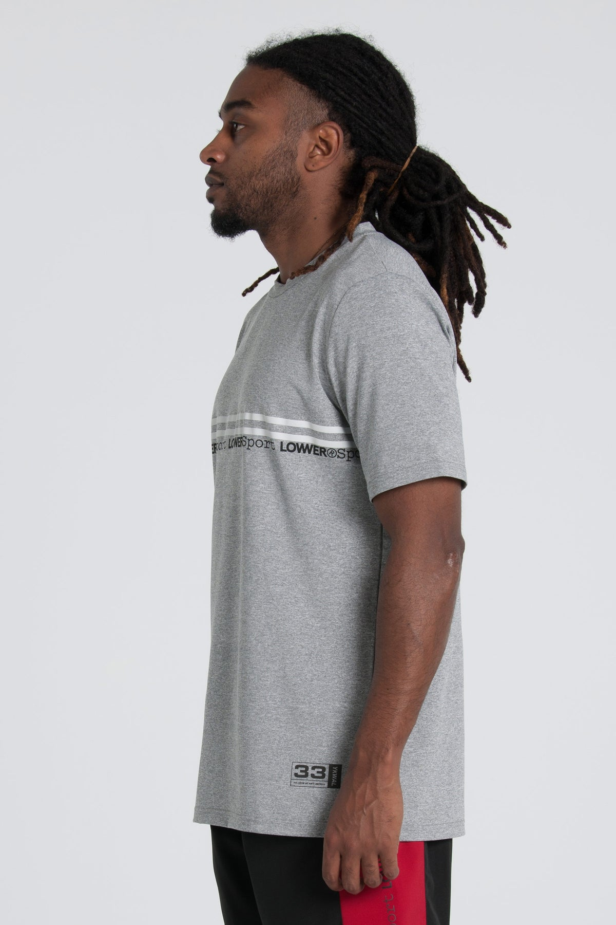 Fly Weight Field Tee - Grey Marle