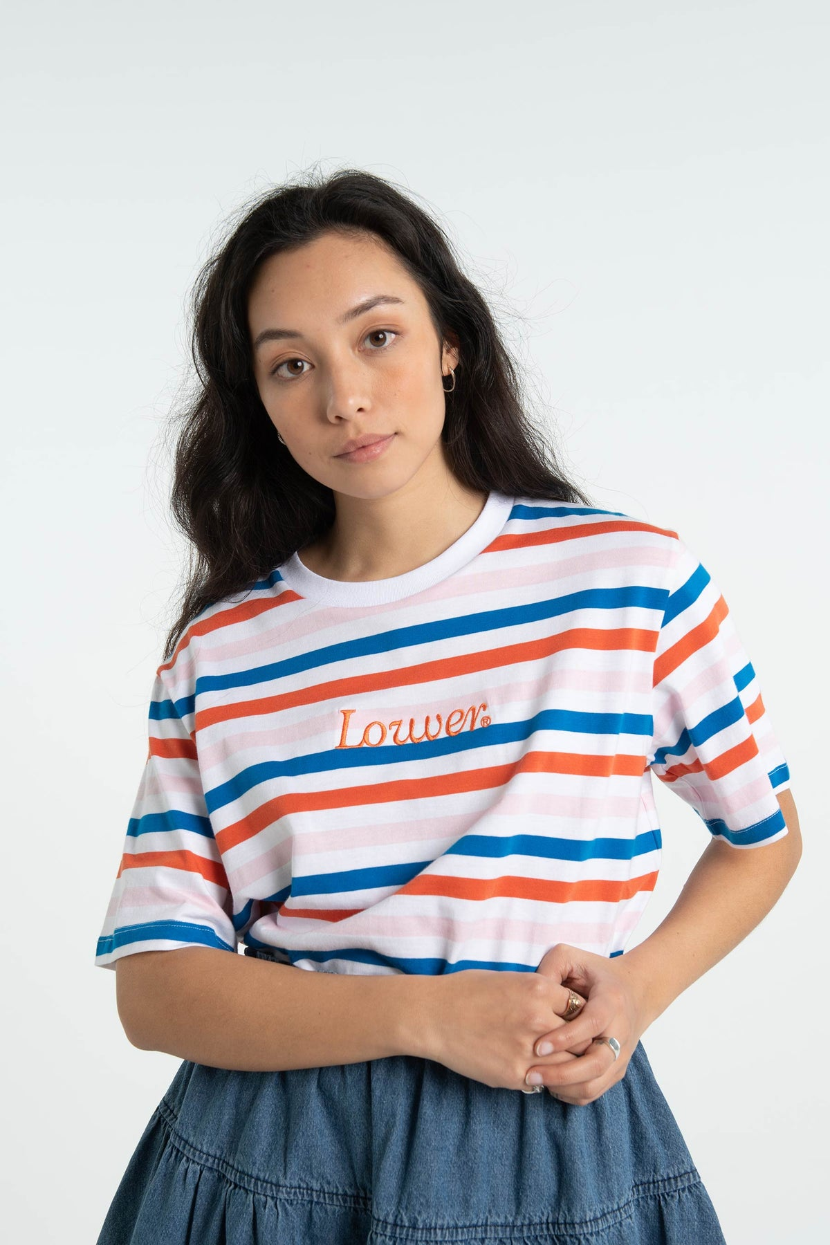 Womens Cropped Tee - Florence - Striped