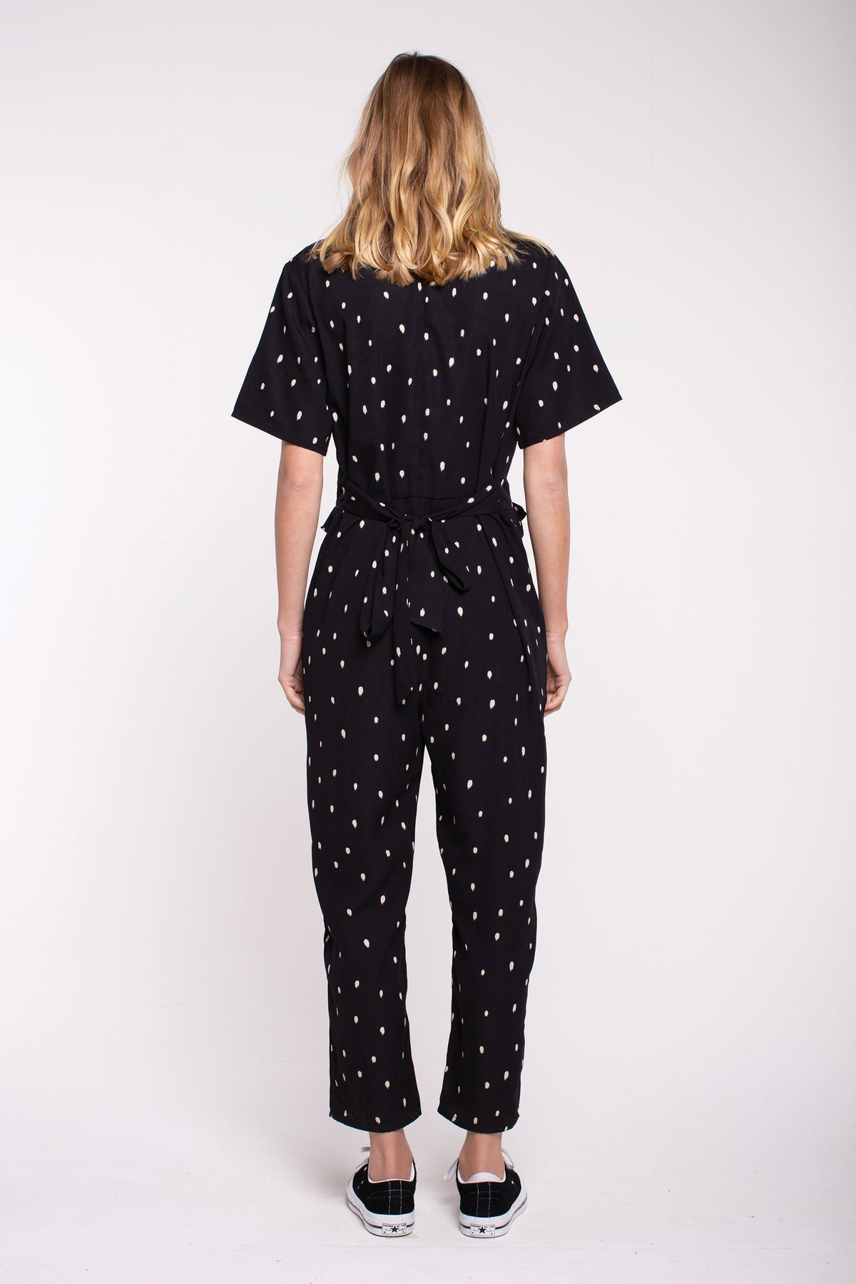 Fran Jumpsuit - Black Spot