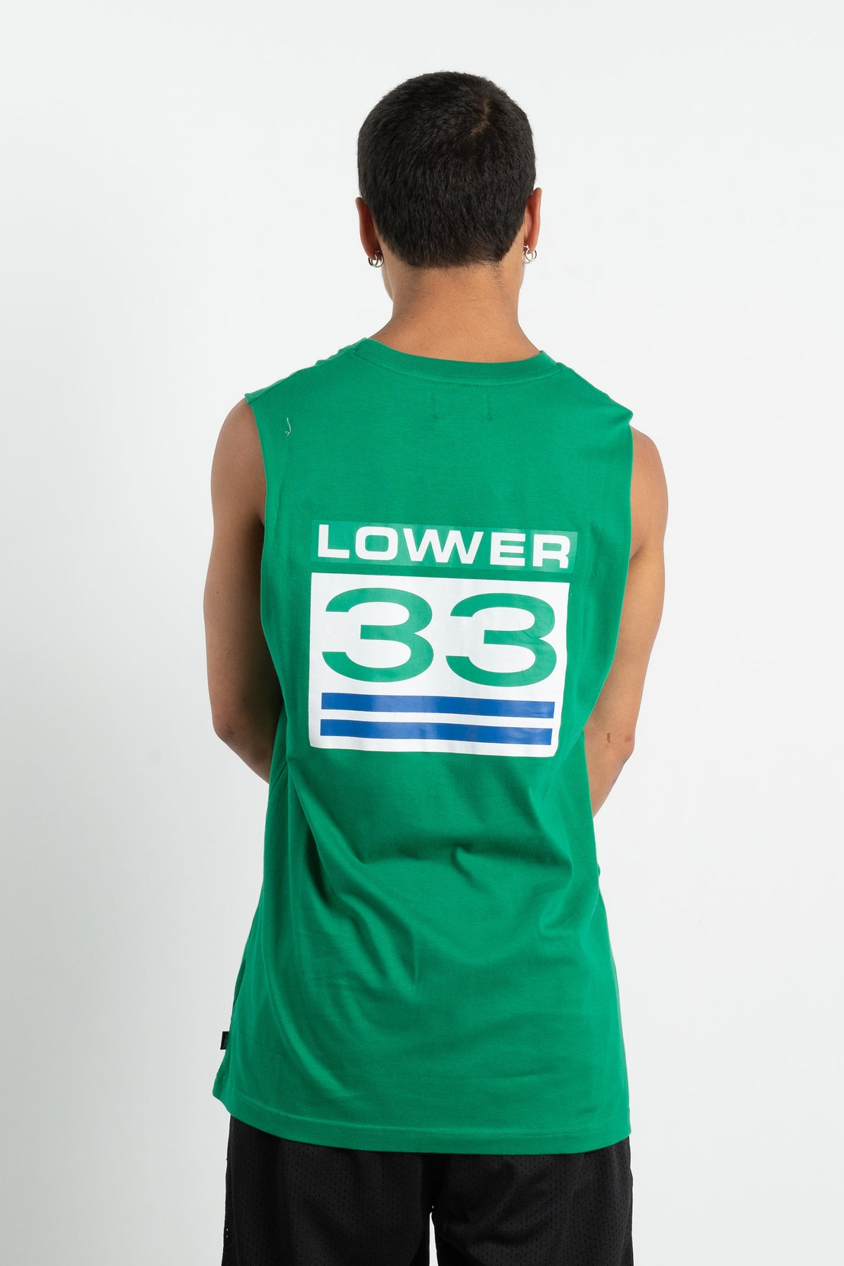 Mens Cut Tank - Sprint - Green