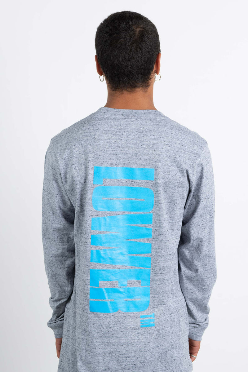 Mens QRS L/S Tee - Bel Air - Grey