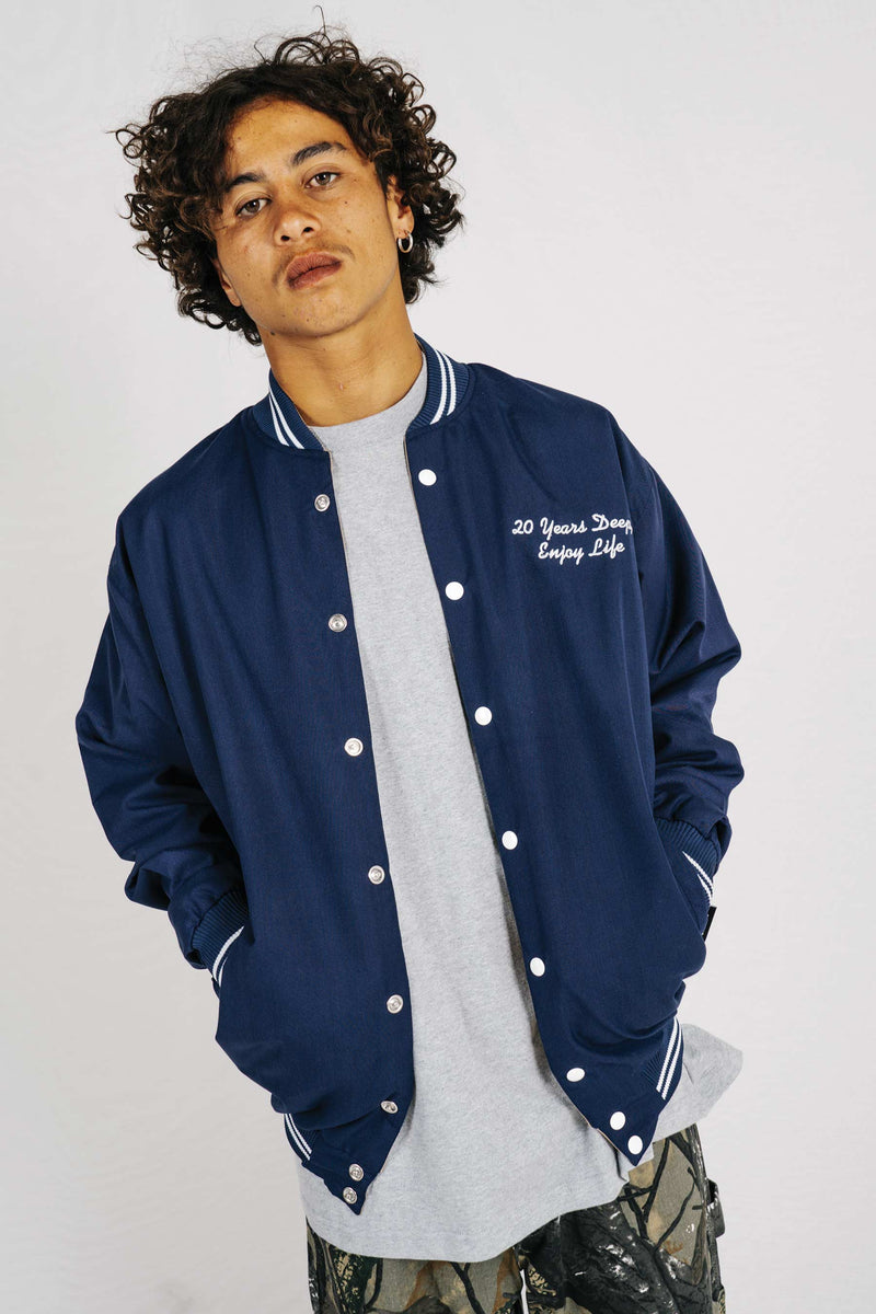 Hayes Jacket - Navy/White Stripe
