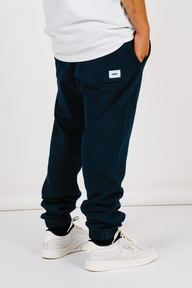Heavy Track Pants (Unisex) - Navy