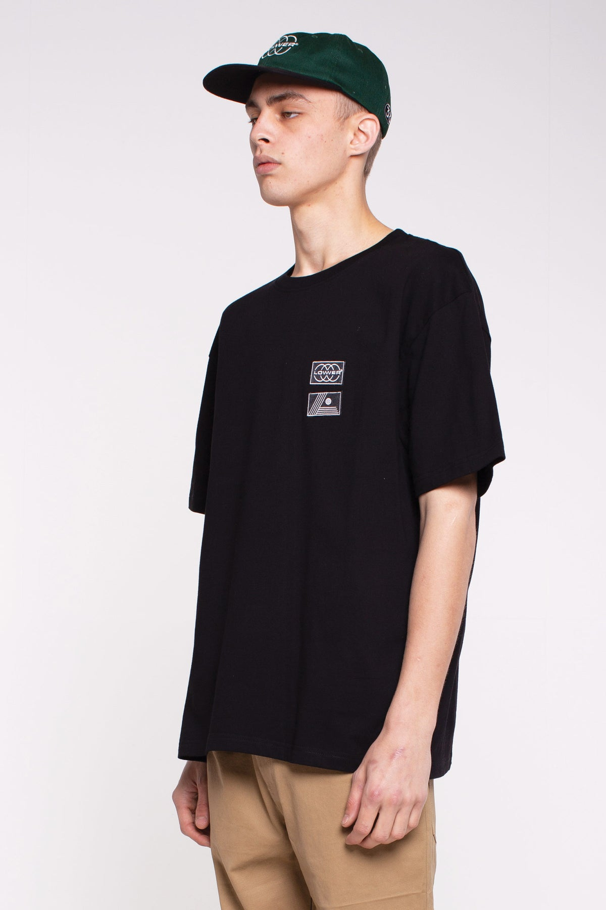 Heavy Weight Tee- Euro Patch - Black
