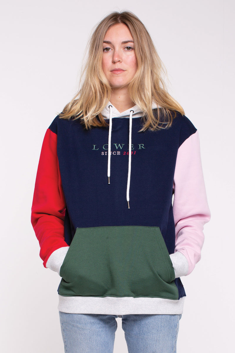 Magnoila Hettie Hood - Navy/Red/Pink Panels