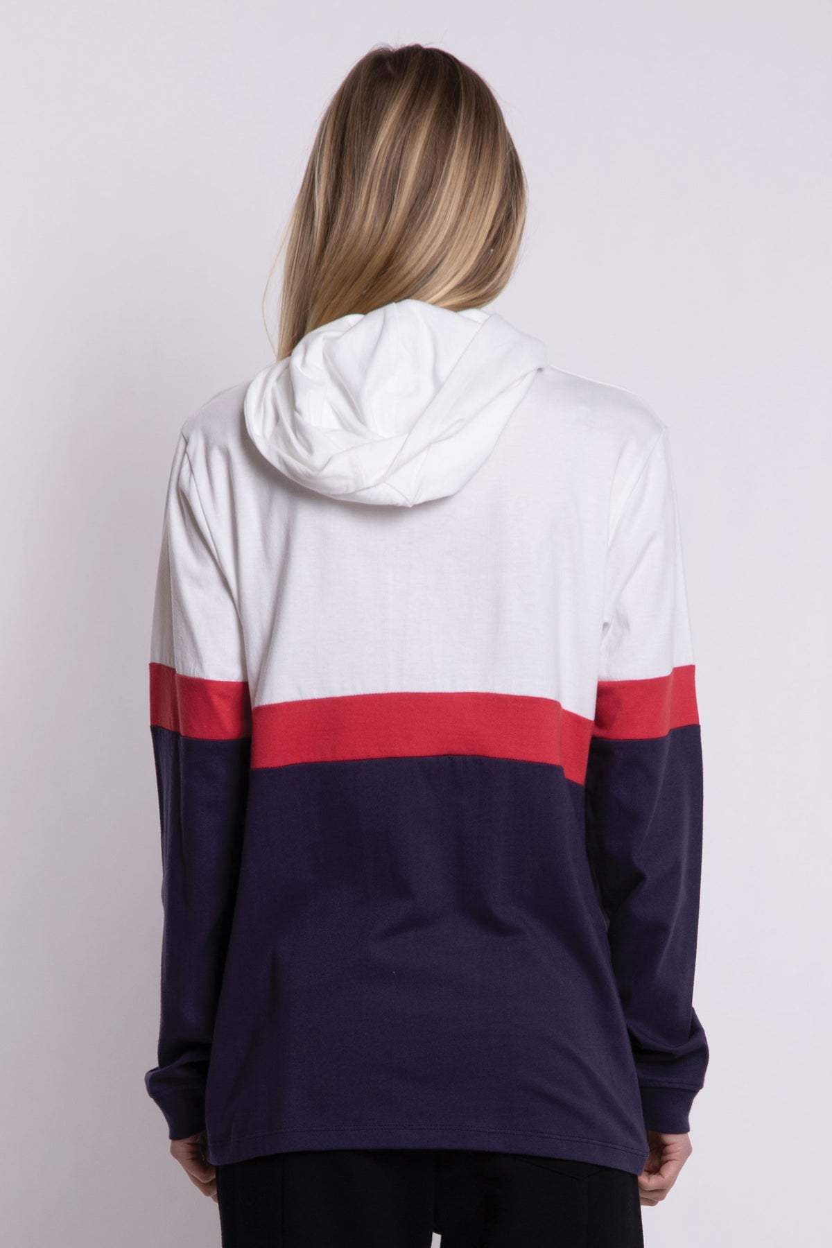 Valley Hooded Panel LS - Navy/Red/White