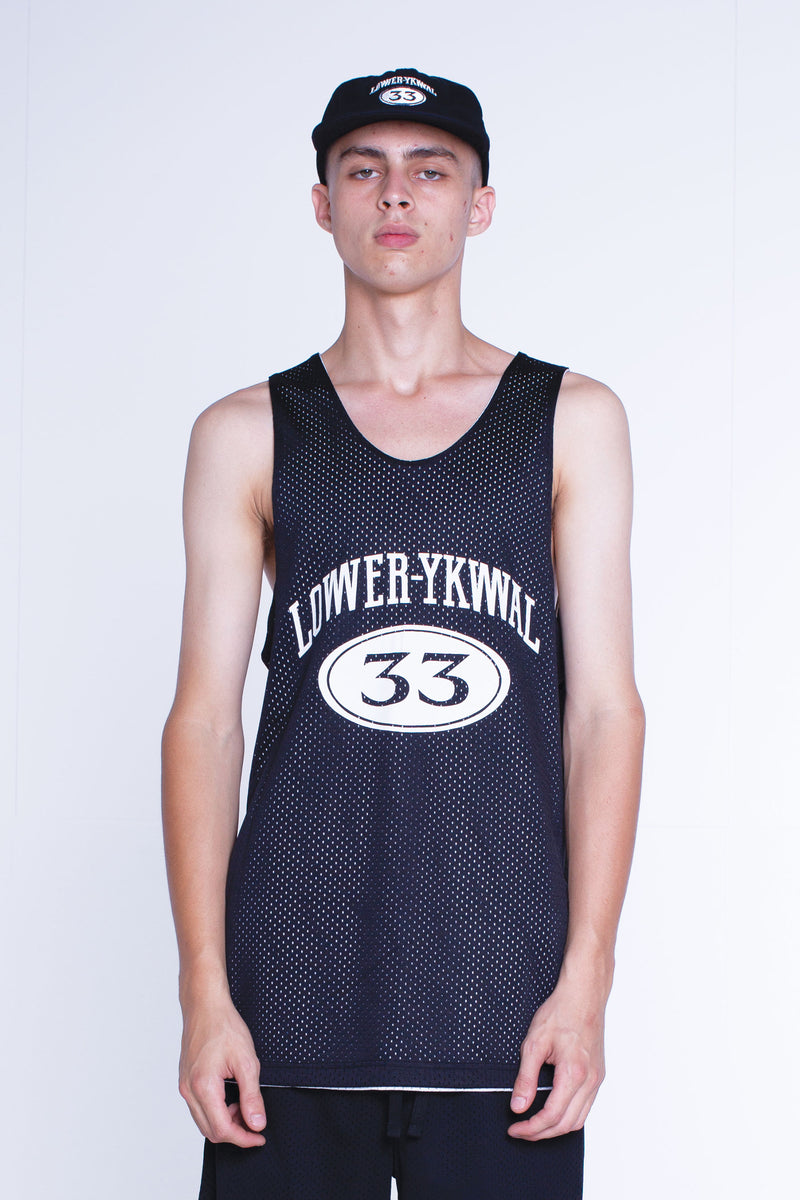 Mens Baller Singlet - Hoop Dreams - Black