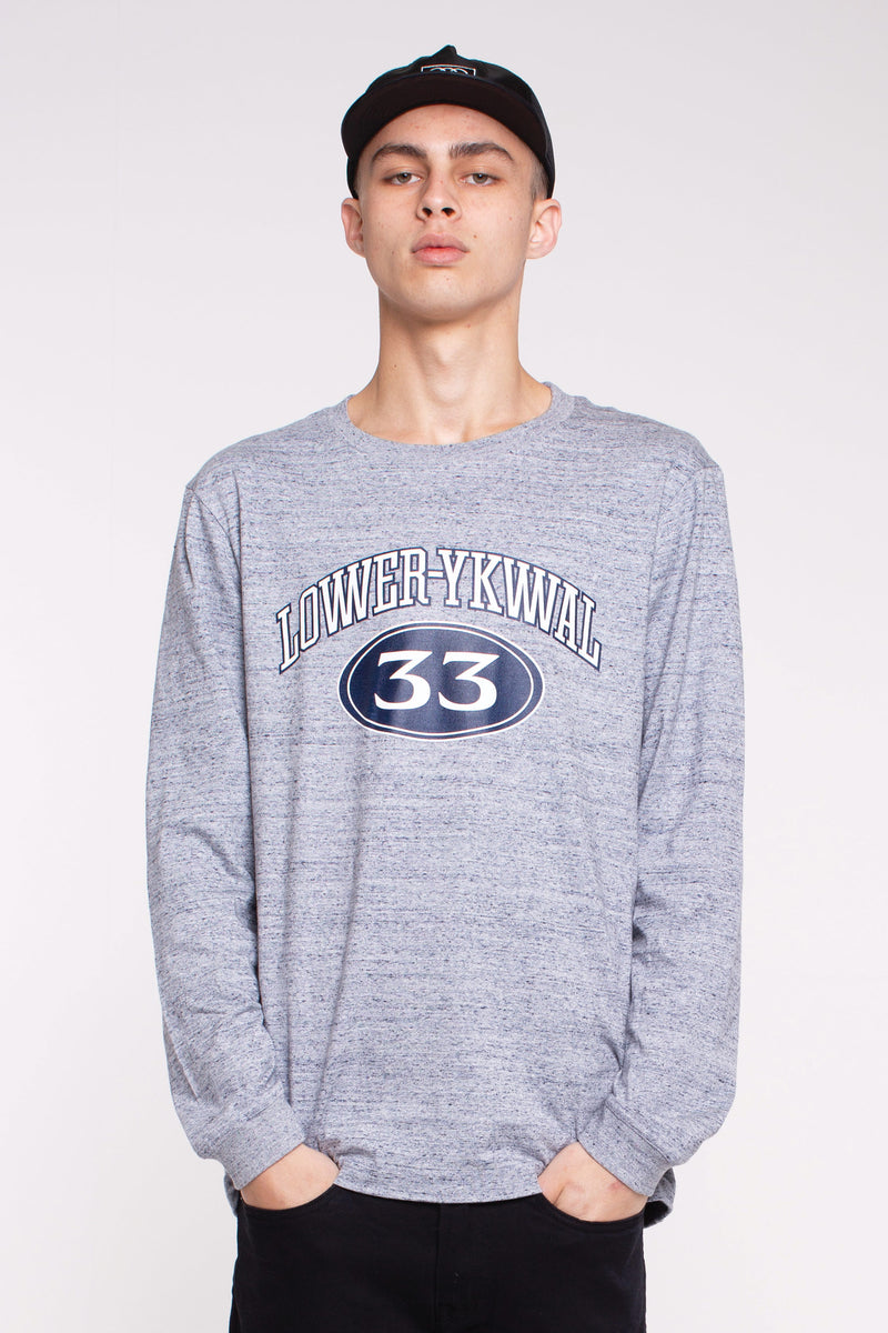 Hoop Dreams QRS L/S Tee - Grey Marle