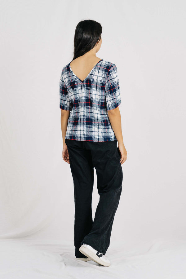 Hugo Reversable Top - Blue/WhiteCheck