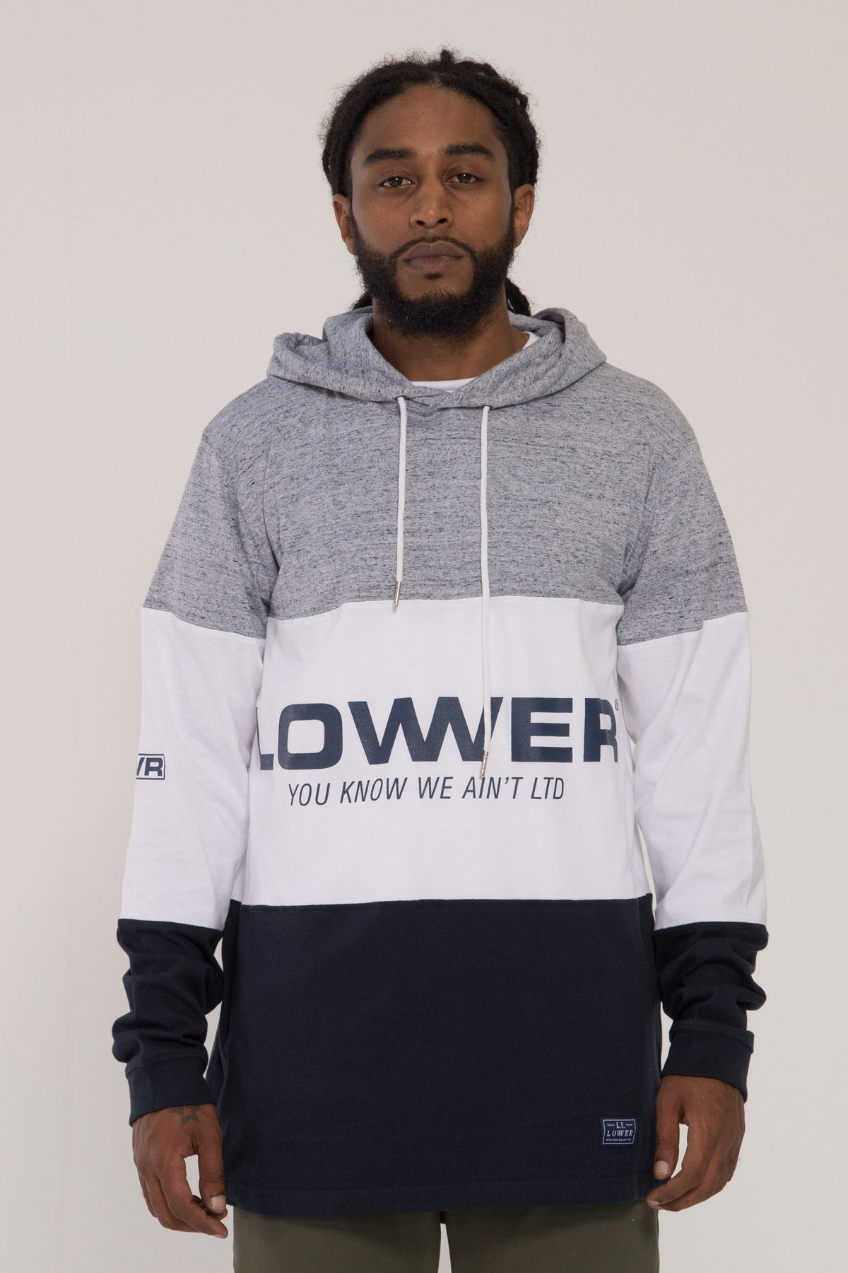 Euro Irving Panel LS - Grey Marle/White/Navy