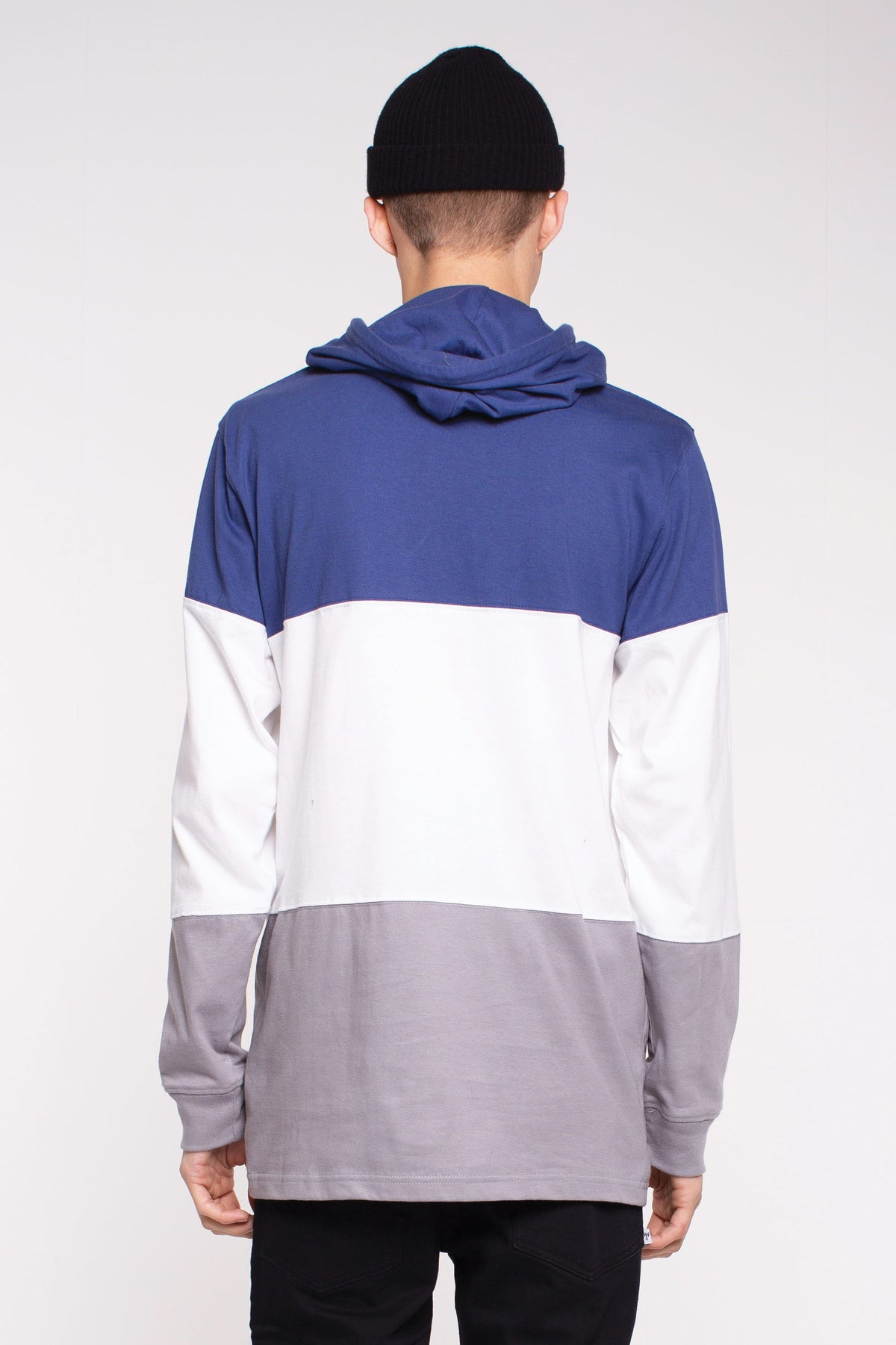 Irving Panel L/S Tee- Greedo - Blue/White Grey Panel
