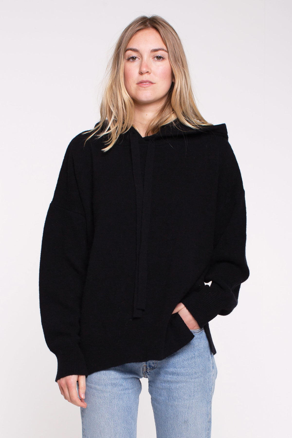 Jackie Hooded Knit - Black