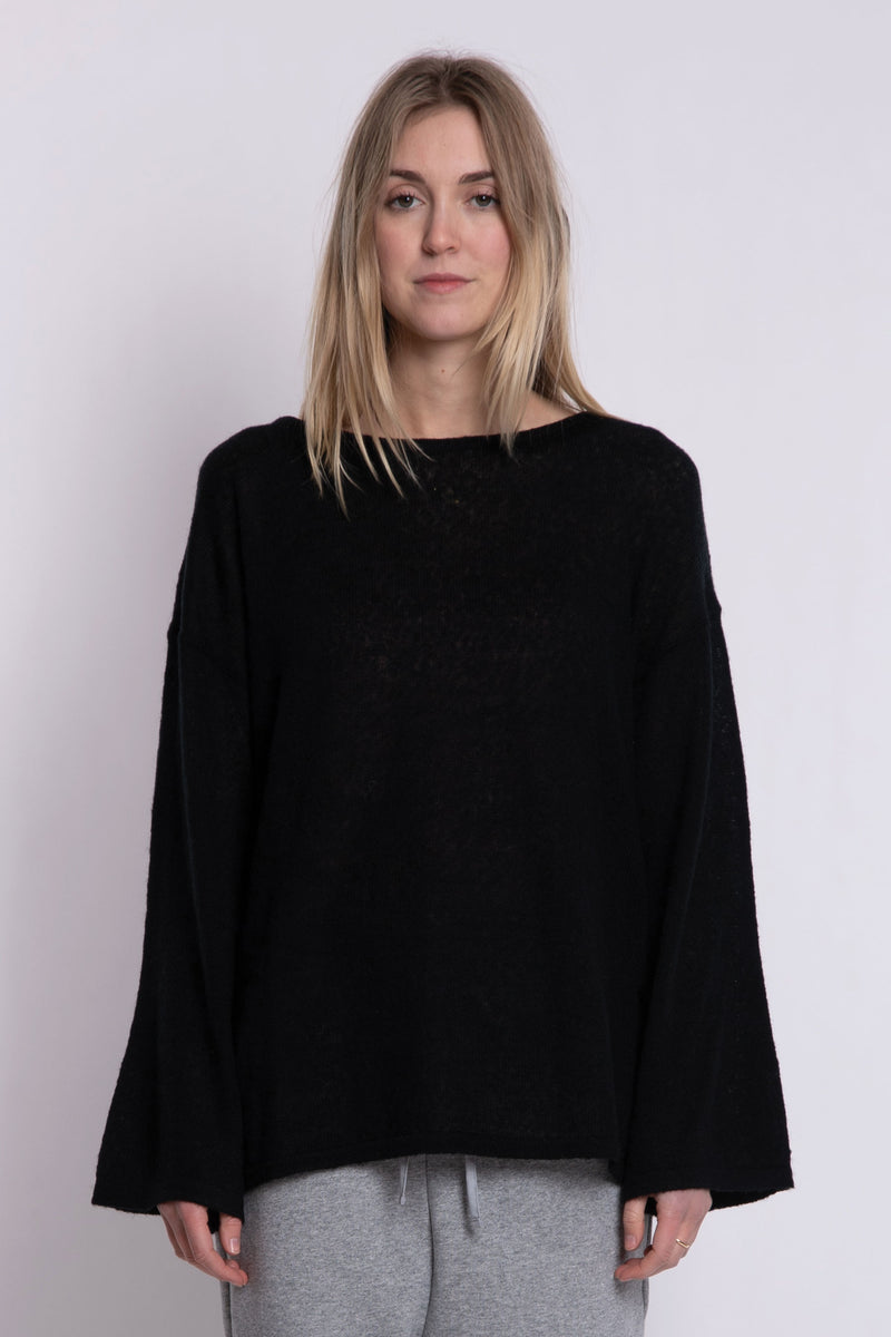 Jill Bell LS Knit - Black