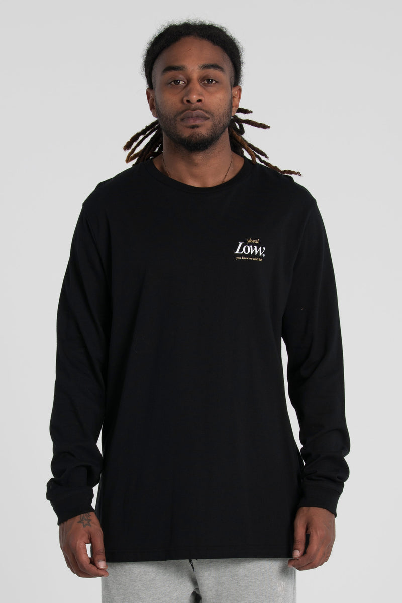 Record QRS Long Sleeve Tee - Black