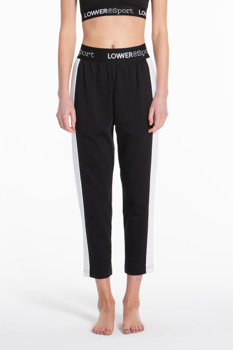 Leisure Trackpants - Black/White