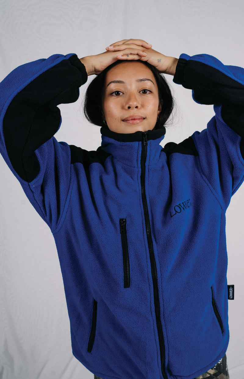 Lex Full Zip Polar Fleece - NewApple - Blue/Black