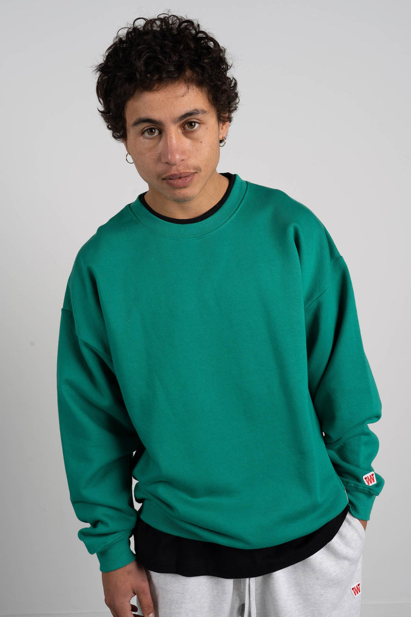 BD Crew (Unisex Heavyweight Organic Cotton) - Green