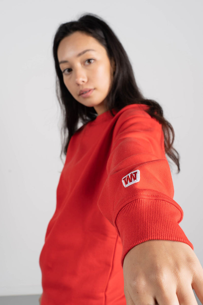BD Crew (Unisex Heavyweight Organic Cotton) - Red