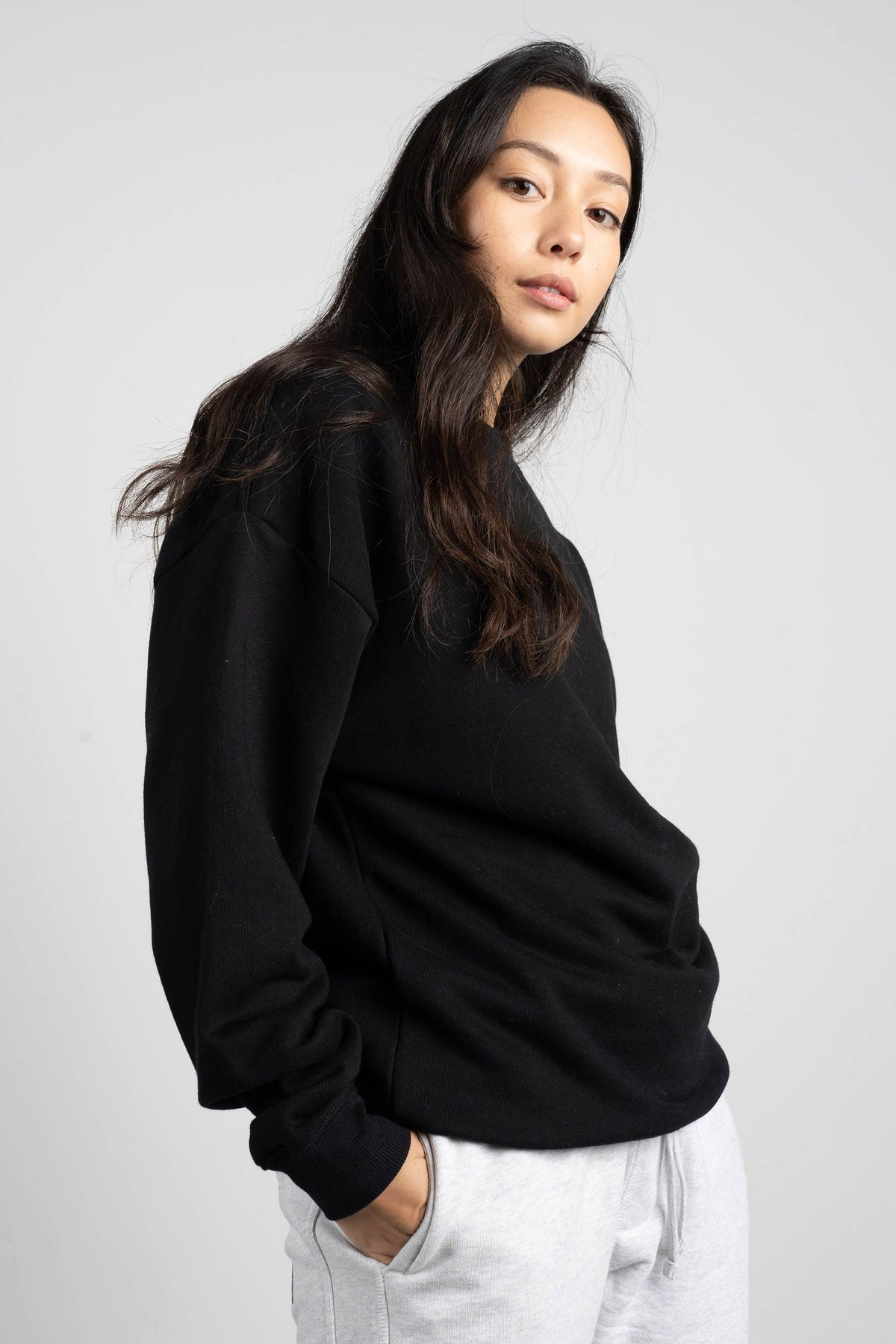 BD Crew (Unisex Heavyweight Organic Cotton) - Black